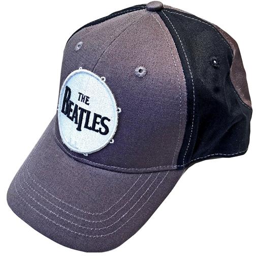 Picture of Beatles Cap: The Beatles Drum Logo Two Tone (Grey Black)