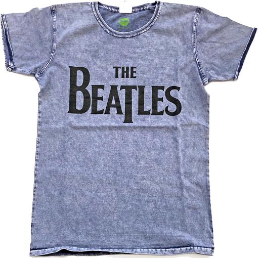 Picture of Beatles Adult T-Shirt: Drop T Denim Blue (Burn Out)