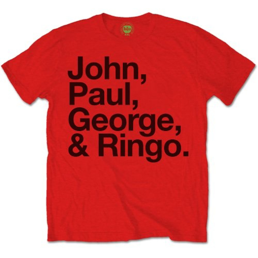 Picture of Beatles Adult T-Shirt: JPGR Red