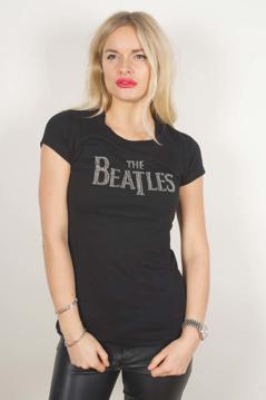 Picture of Beatles T-Shirt: Juniors - Rhinestone Drop Tee