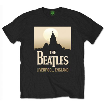 Picture of Beatles Adult T-Shirt: Liverpool England Skyline