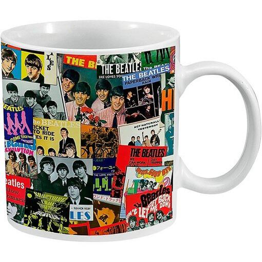 Picture of Beatles Mug: Beatles Singles Covers  20 oz. Ceramic Mug