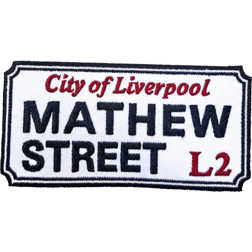 Picture of Beatles Patches: Mathew Street Liverpool Sign