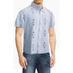 Picture of Beatles Dress Shirt: Light Blue Drums and Apples Button Down