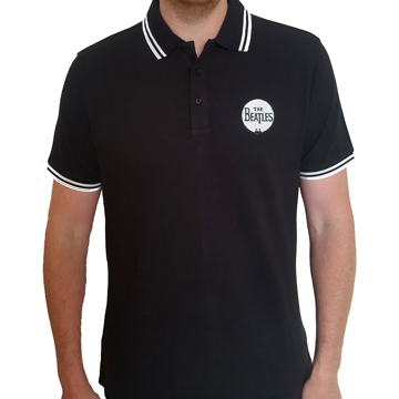 Picture of Beatles Polo Shirt: Drum Logo Black