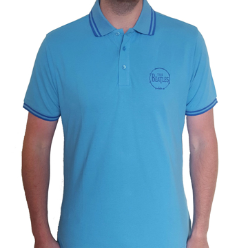 Picture of Beatles Polo Shirt: Drum Logo Light Blue