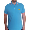 Picture of Beatles Polo Shirt: Yellow Submarine Light Blue