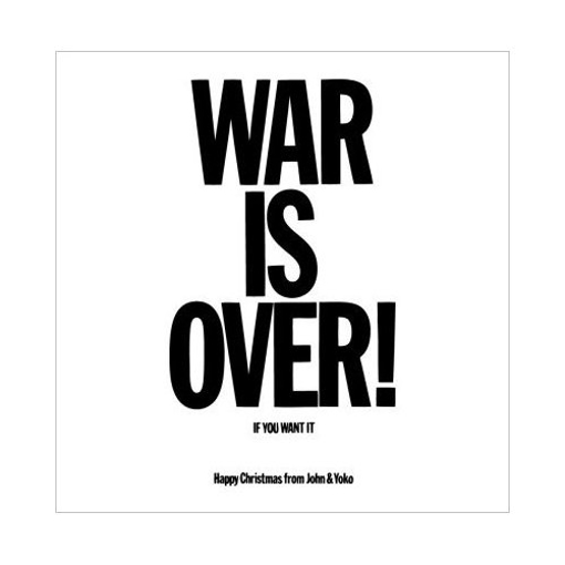 """Picture of Beatles Greeting Card:  John Lennon """"War is Over"""""""