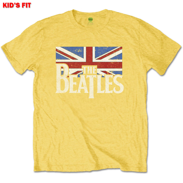 Picture of Beatles Kid Shirt: The Beatles Drop T Logo Flag - Yellow