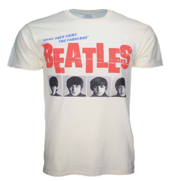 Picture of Beatles Adult T-Shirt: Beatles Here Come The Fabulous Beatles 1964