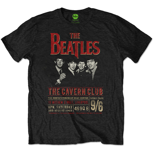 Picture of Beatles Adult T-Shirt: The Beatles Cavern 1963 Eco Tee Shirt