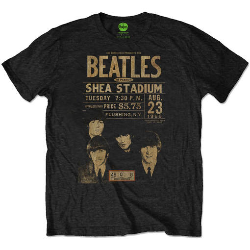 Picture of Beatles Adult T-Shirt: The Beatles Shea '66 Eco Tee Shirt