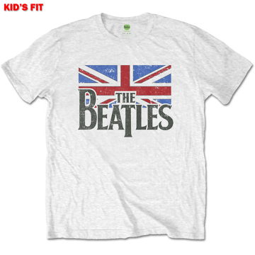 Picture of Beatles Kid Shirt: The Beatles Drop T Logo Flag - White