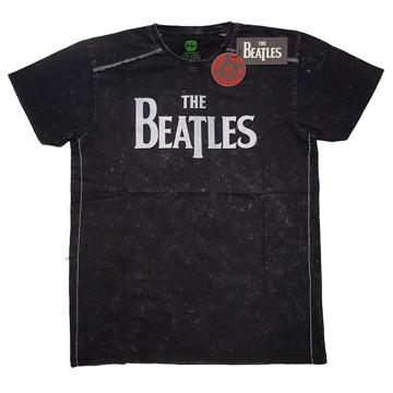 Picture of Beatles Adult T-Shirt: Classic Black Drop-T Snow Wash (Black)