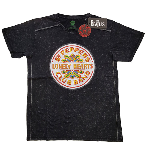 Picture of Beatles Adult T-Shirt: Sgt Pepper Drum Snow Wash