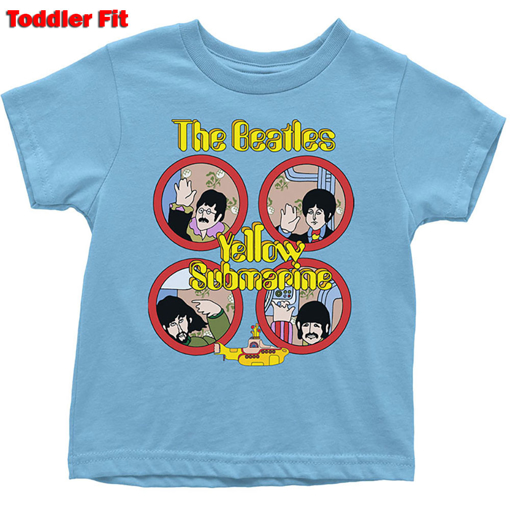Picture of Beatles Kid Shirt: The Beatles Yellow Sub Portholes - Baby to 5 YR (Light Blue)