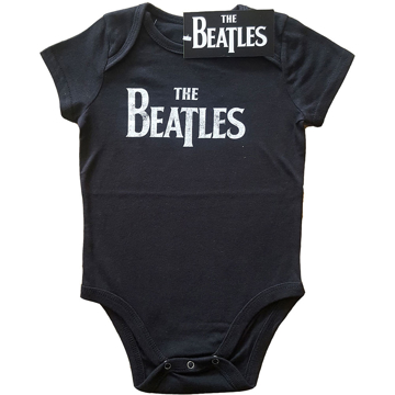 Picture of Beatles Onesie: Baby Drop T Black & White Distressed 3m -24m