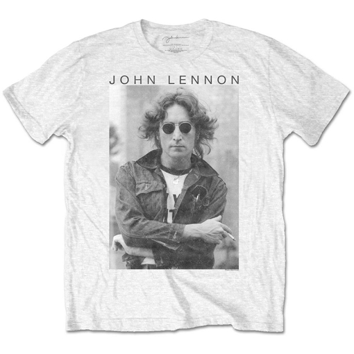 Picture of Beatles Adult T-Shirt: John Lennon Windy Hair NYC