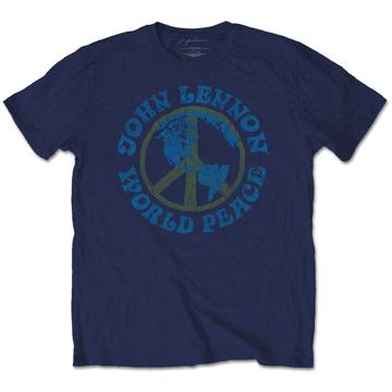 Picture of Beatles Adult T-Shirt: John Lennon World Peace Crest