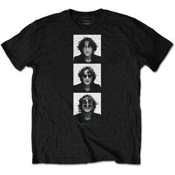 Picture of Beatles Adult T-Shirt: John Lennon Photo Stack