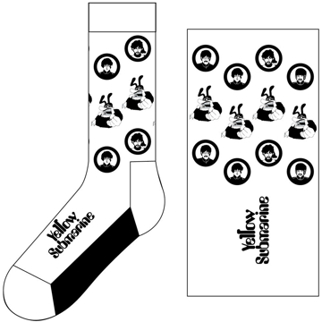 Picture of Beatles Socks: The Beatles Unisex Ankle Socks - Band & Meanies Monochrome