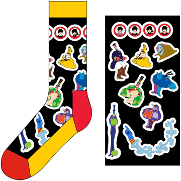 Picture of Beatles Socks: The Beatles Unisex Ankle Socks -  Portholes & Characters